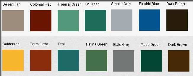 Colors Of TPO Roofing