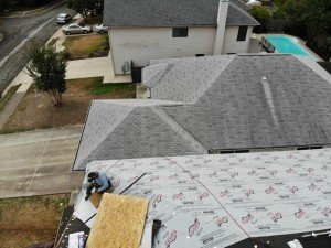 Canyon Lake Roof Installation In Progress