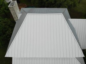 Standing Seam Metal Roof Installed With Striations