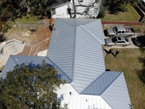 Standing Seam Metal Roofing, Drone Picture